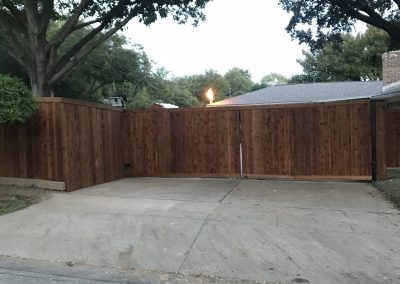 Cedar Driveway Gate