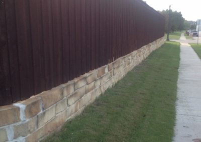 Cedar Privacy Fence on Brick