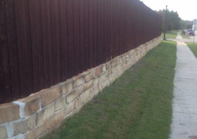 Cedar Privacy Fence on Brick