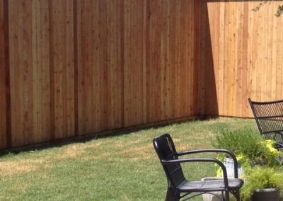 Privacy fence with top finish