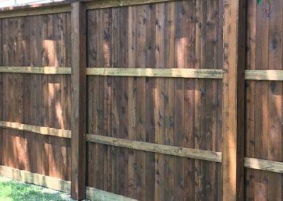 two tone cedar fence