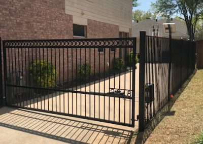 Wrought Iron Driveway Gate and Fence