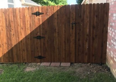 traditional style all stained cedar fence