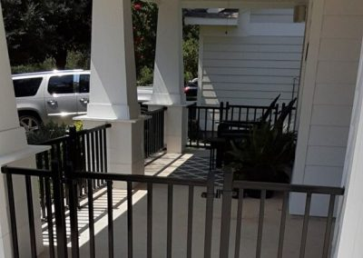 Metal Porch Fence and Gate